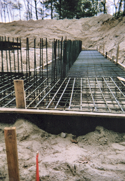 FootingsRetaining Walls Scale Concrete Construction